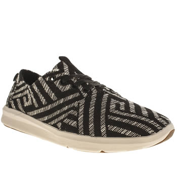 Mens Toms Black & White Viaje Sneaker Trainers
