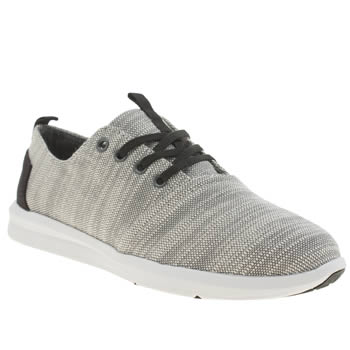 Toms Grey & Black Del Rey Sneaker Shoes