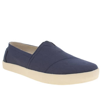 Mens Toms Navy Avalon Sneaker Shoes