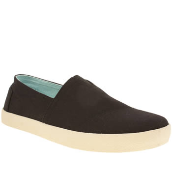 Mens Toms Black Avalon Sneaker Shoes