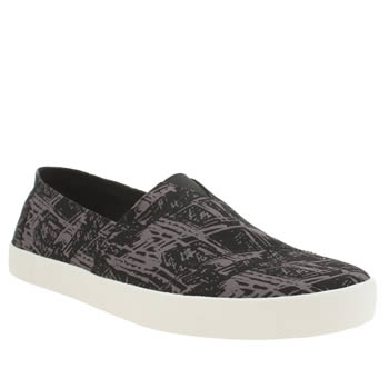 Mens Toms Black & Grey Avalon Sneaker Shoes