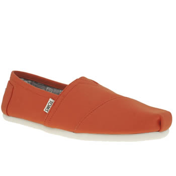 Mens Toms Orange Seasonal Classic Shoes
