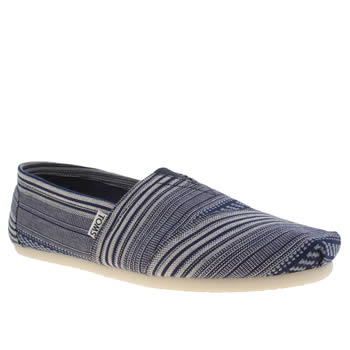 Toms Blue Tribal Seasonal Classic Shoes