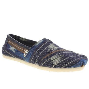 Toms Brown & Navy Seasonal Classic Shoes