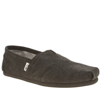 Mens Toms Black Seasonal Classic Shoes