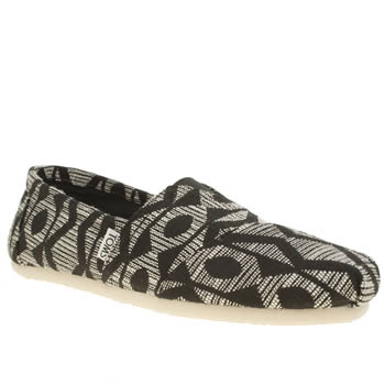Mens Toms Black & White Seasonal Classic Shoes