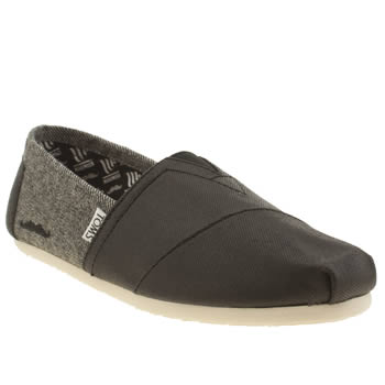 Toms Black Movember Twill Classic Shoes