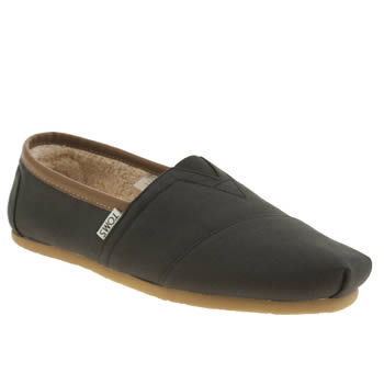 Mens Toms Black Seasonal Aviator Classic Shoes