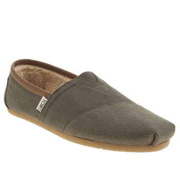 Mens Toms Grey Seasonal Aviator Classic Shoes