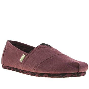 Mens Toms Burgundy Classic Earthwise Shoes