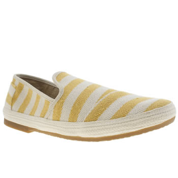 Mens Toms White & Yellow Sabados Shoes