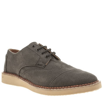 Toms Black Brogues Mens Shoes