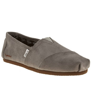 mens toms dark grey classic movember shoes
