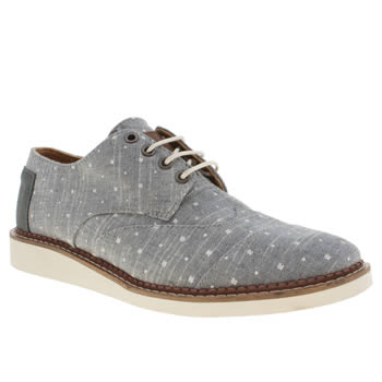 mens toms blue brogues shoes
