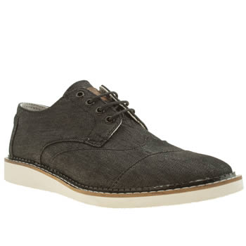 mens toms black brogues shoes