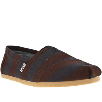 mens toms navy & red classic stripe shoes