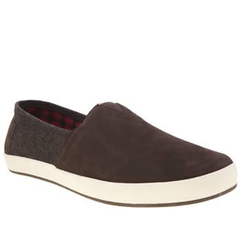 Toms Brown Suede Herringbone Avalon Mens Shoes