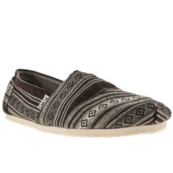 mens toms black & grey classic nepal shoes
