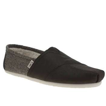 Mens Toms Black Seasonal Shearling Shoes