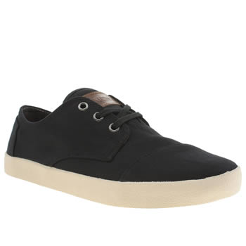 Mens Toms Black Paseos Shoes