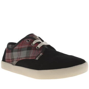 Toms Black & Red Paseos Shoes