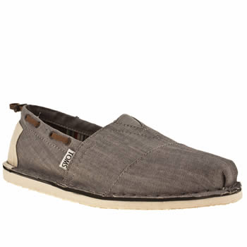 Mens Toms Grey Bimini Shoes