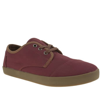 Toms Burgundy Paseo Twill Shoes