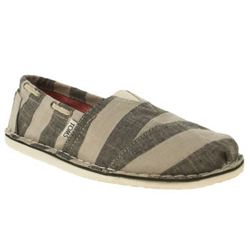 mens toms stone & black bimini shoes