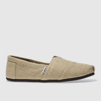 Mens Toms Stone Classic Burlap Shoes