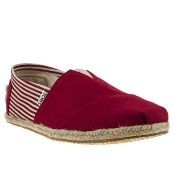 mens toms red university classics shoes