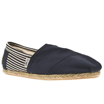 Mens Toms Navy & White University Classics Shoes