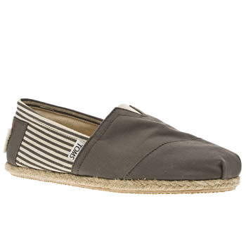 mens toms grey university classics shoes