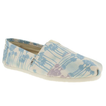 mens toms white & pink classic shoes