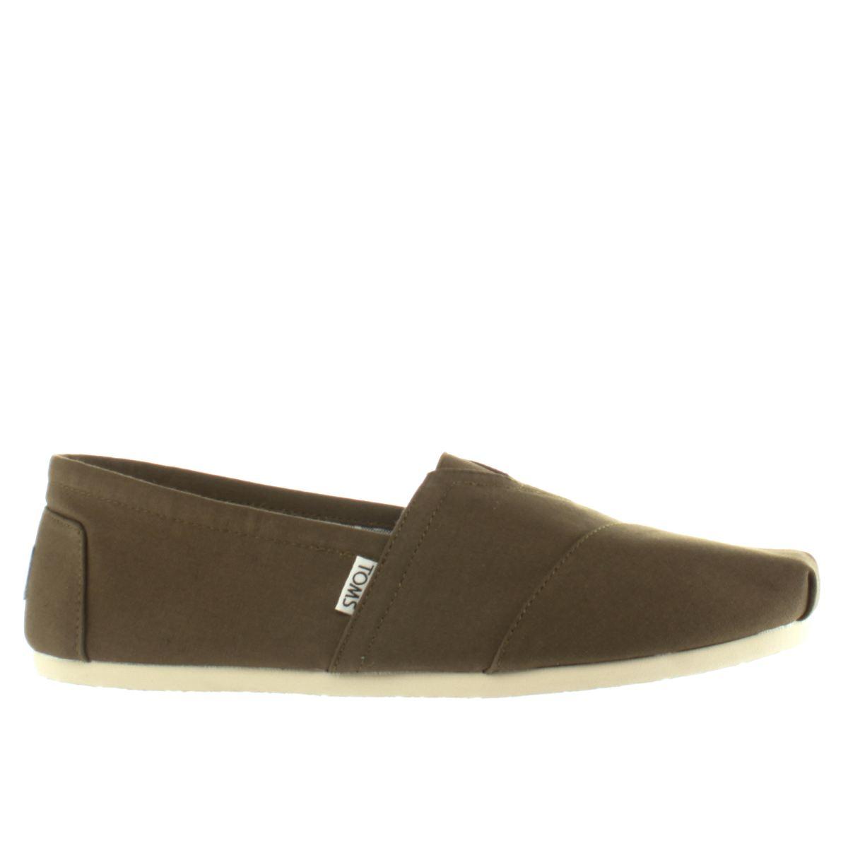 toms khaki classic shoes