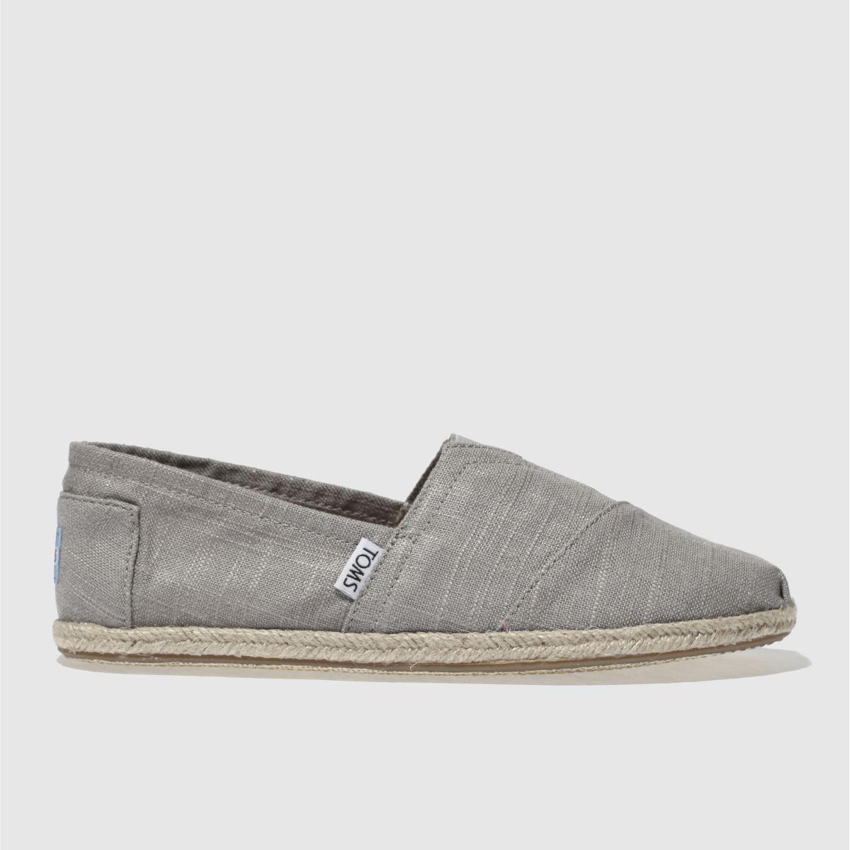 Toms Light Grey Classic Ii Shoes