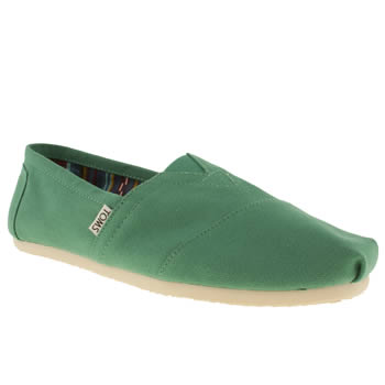 Mens Toms Light Green Classic Shoes