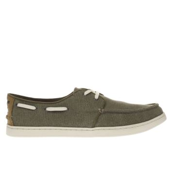 Toms Khaki Culver Lace Up Mens Shoes