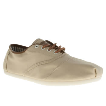Toms Beige Cordones Tencel Shoes