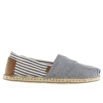 Toms Navy & White Seasonal Classic Shoes