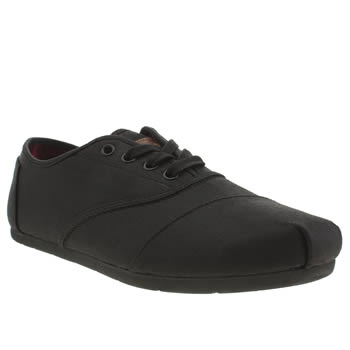 mens toms black cordones shoes