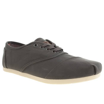 Mens Toms Grey Cordones Shoes