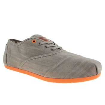 mens toms dark grey cordones shoes