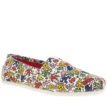 Toms Multi Classic Keith Haring Pop Mens Shoes