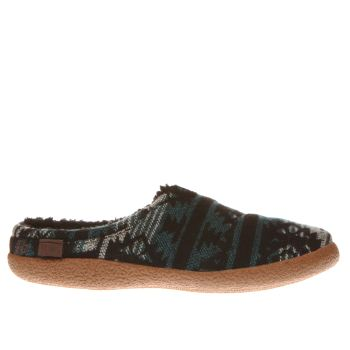 Toms Black and blue Berkeley Slippers