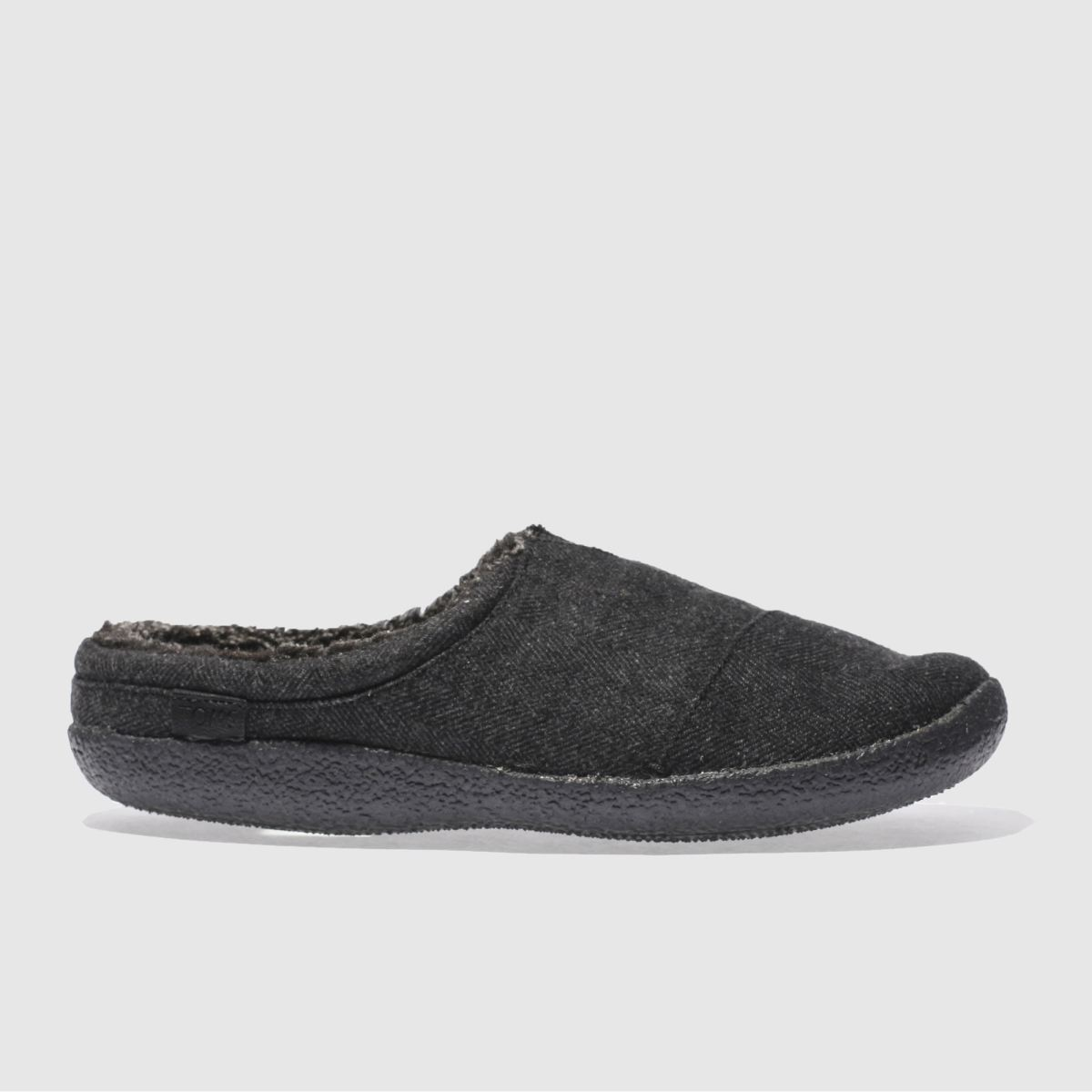toms black & grey berkeley slipper slippers