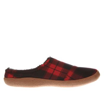 Toms Black & Red Berkeley Slippers