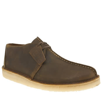 Mens Clarks Originals Brown Desert Trek Shoes