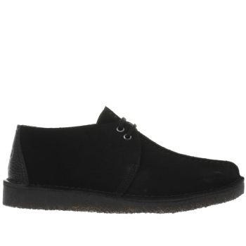 Clarks Originals Black Desert Trek Mens Shoes