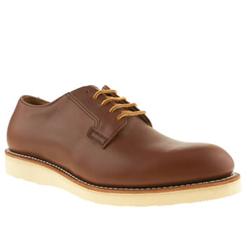 mens red wing tan postman shoe shoes