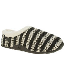 Homeys Black & White Barney Mens Slippers